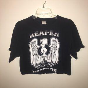 Reaper records crop top